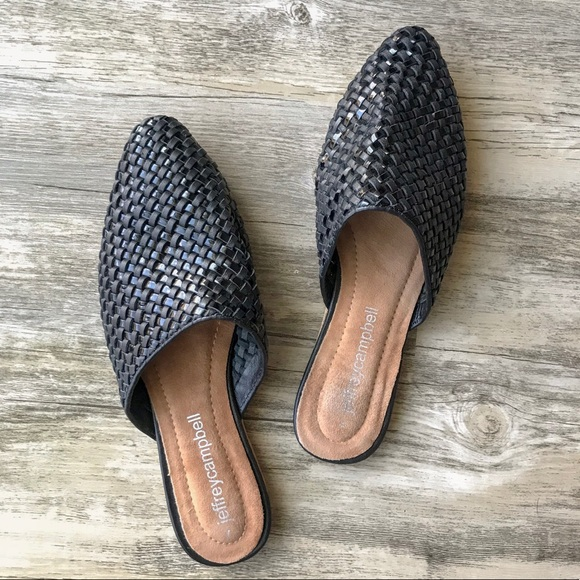 ce3f387f467 Jeffrey Campbell Shoes - Jeffrey Campbell Dashi Woven Mule Black Sz 7